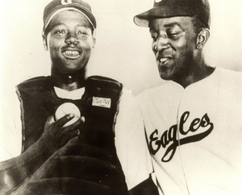 Charles Parks and Leon Day (COURTESY OF LARRY LESTER)