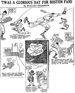 Boston Globe cartoon, September 20, 1916