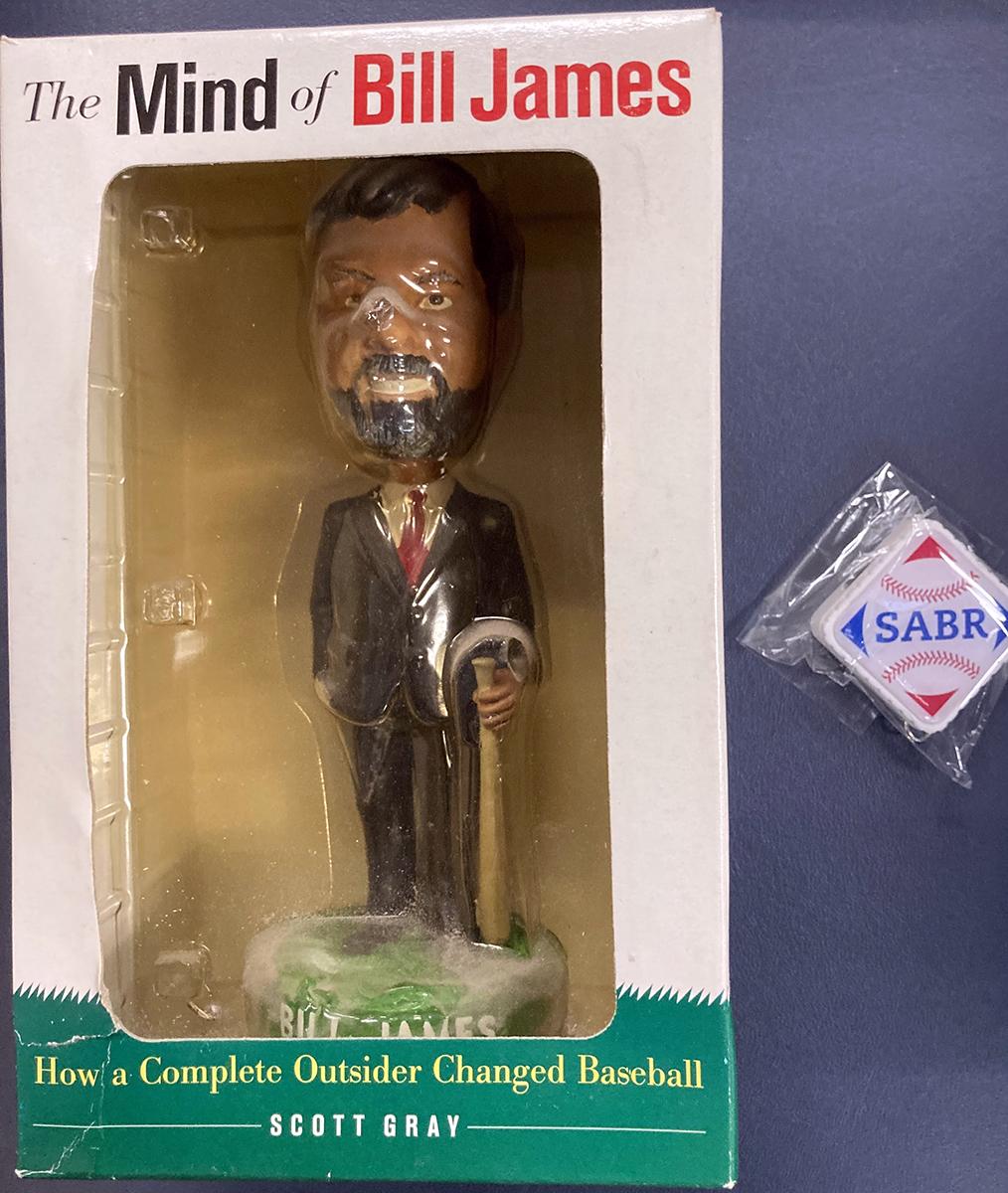 Bill James Bobblehead and SABR Thumb Drive