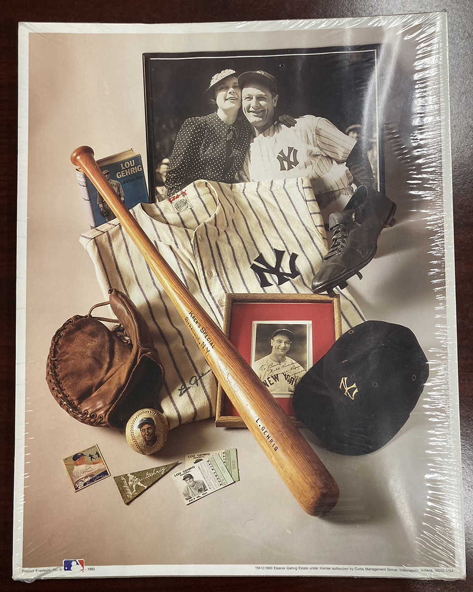 Lou Gehrig Montage First Edition Print