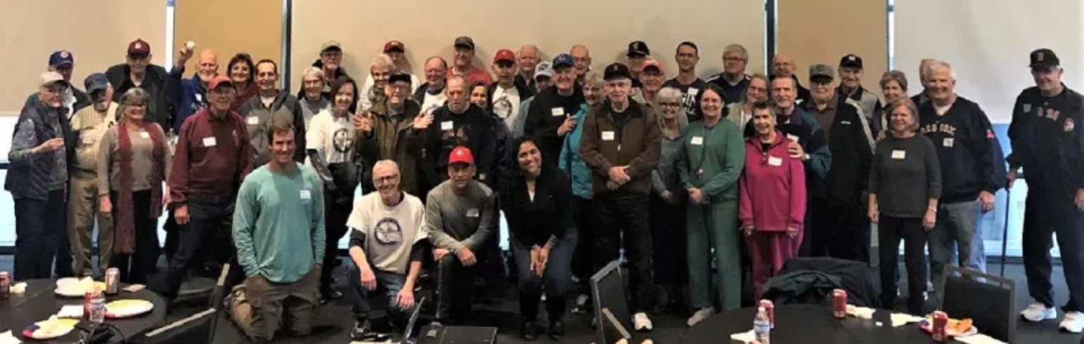 The BasebALZ baseball reminiscence therapy group held a joint meeting in February 2020 at Dell Diamond in Round Rock, Texas. More than 50 participants and volunteers were in attendance. (MONTE CELY)