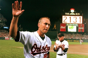 Cal Ripken plays his 2,131st consecutive game in 1995 (BALTIMORE ORIOLES)