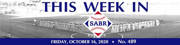 This Week in SABR: October 16, 2020