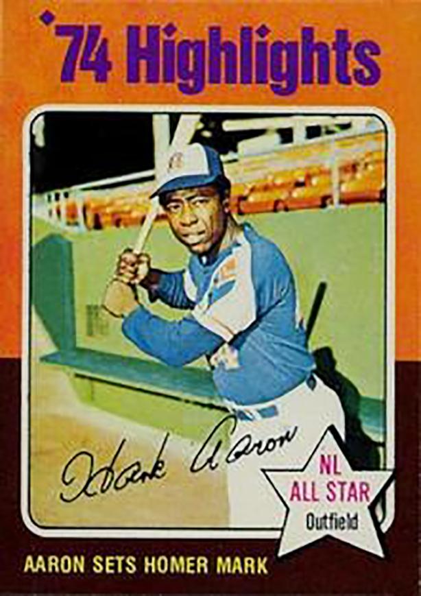 1975 Topps Mini: Hank Aaron