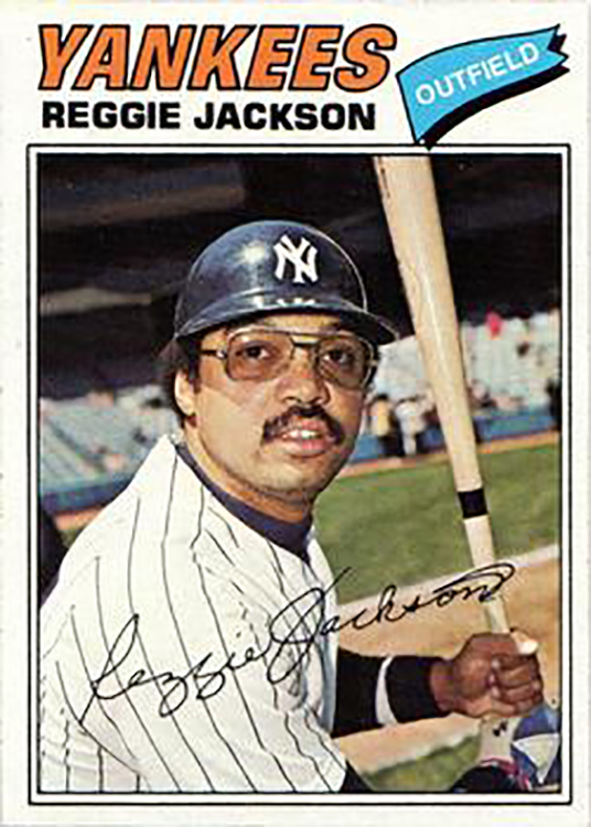1977 Topps Burger King: Reggie Jackson