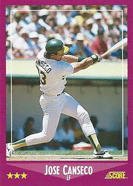 1988 Score: Jose Canseco