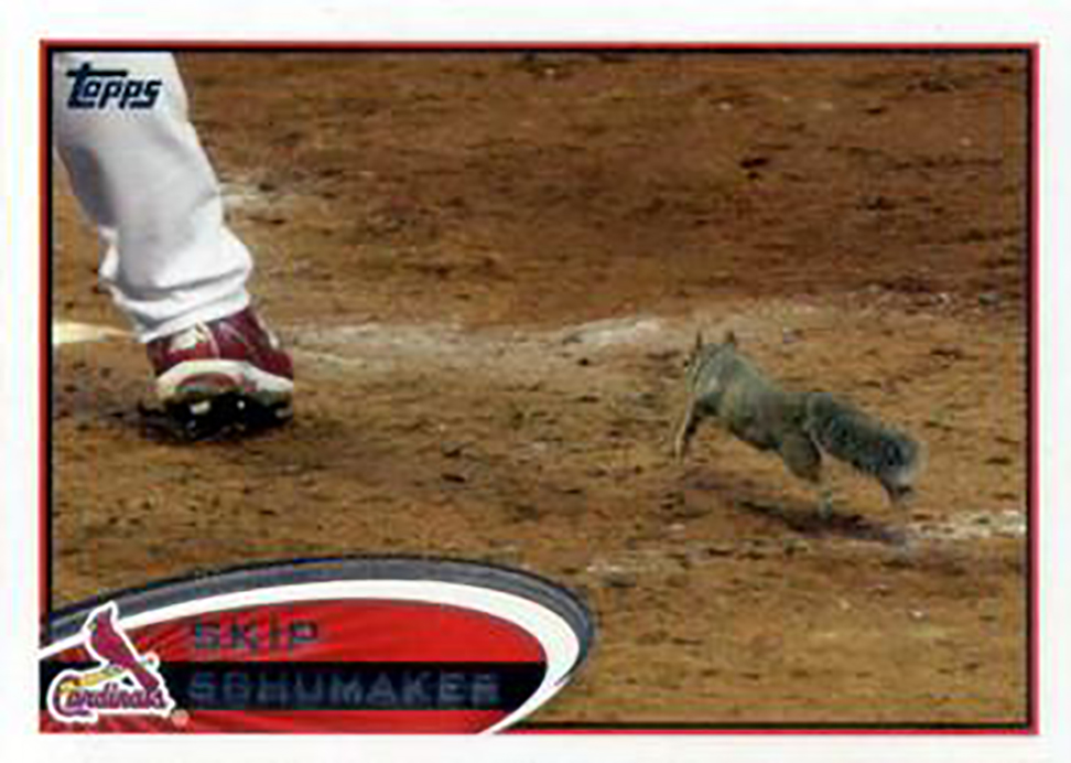 2012 Topps: Skip Schumaker Rally Squirrel Variant