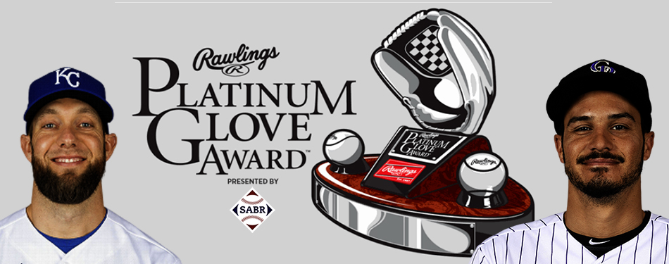 2020 Rawlings Platinum Glove Award winners: Alex Gordon and Nolan Arenado