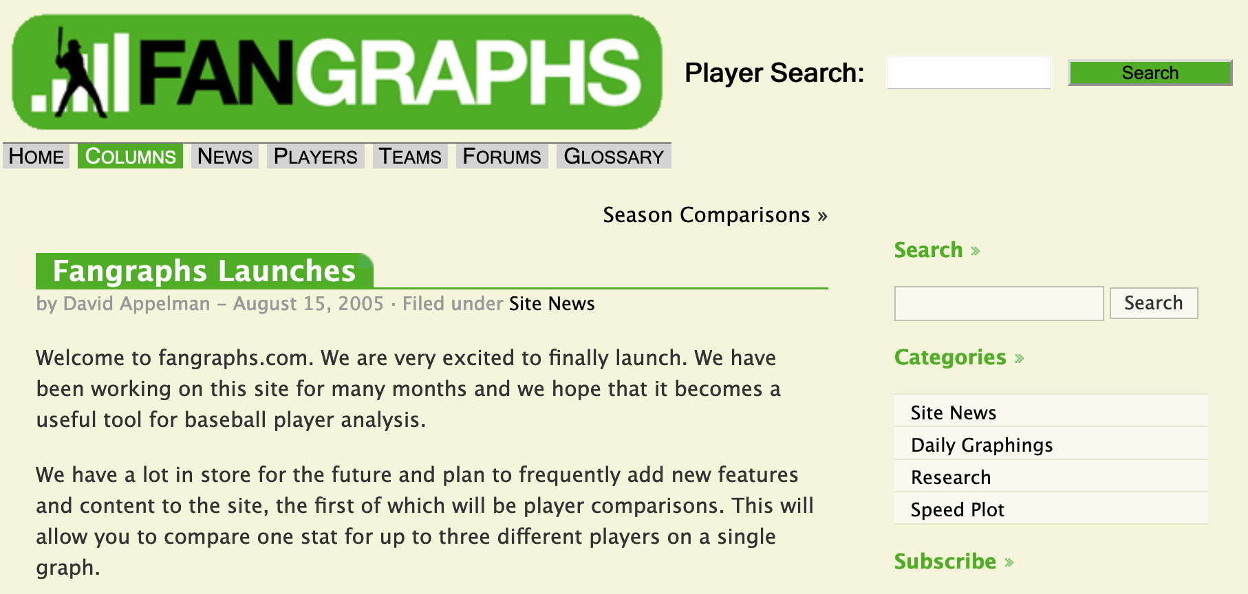 Created by David Appelman in 2005, FanGraphs has become one of the most influential baseball websites in the game.