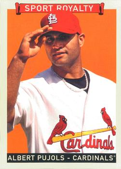 Albert Pujols led all major-league players in Wins Above Replacement at Baseball-Reference.com in 2008 (TRADING CARD DB)