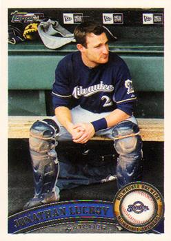 Jonathan Lucroy emerged as one of the best catchers in baseball thanks to an increased focus on the value of pitch framing in the 2010s. (TRADING CARD DB)