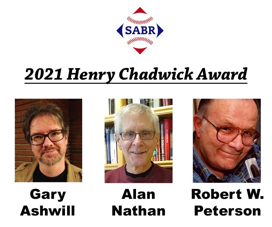 2021 SABR Henry Chadwick Award recipients
