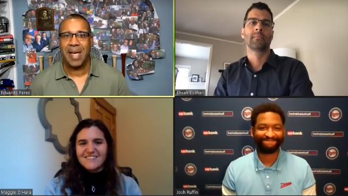 2021 SABR Analytics: Analyze This panel: Eduardo Perez, Ehsan Bokhari, Maggie O'Hara, Josh Ruffin