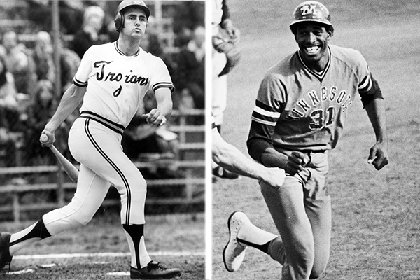 USC's Fred Lynn and Minnesota's Dave Winfield matched up in the 1973 College World Series (Photos: University of Southern California, University of Minnesota)