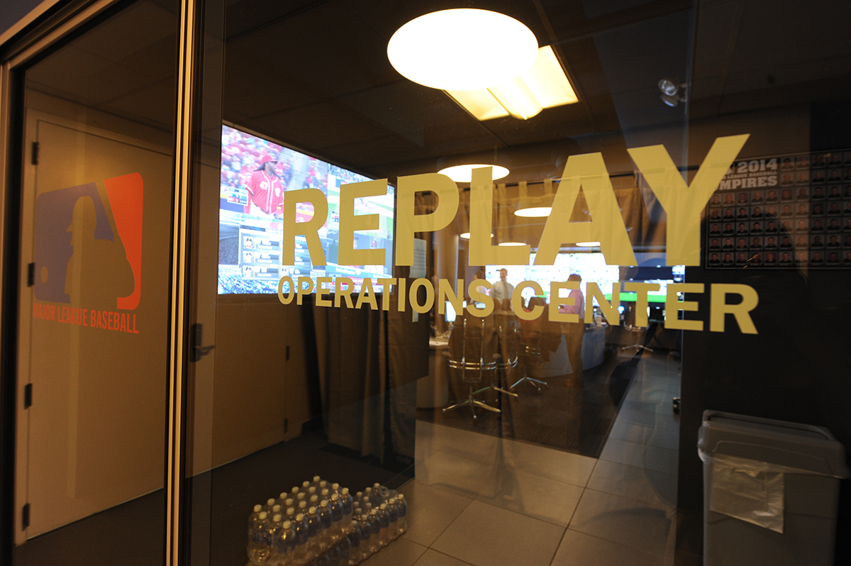 Entrance to Replay Operations Center, New York City (COURTESY OF MAJOR LEAGUE BASEBALL)