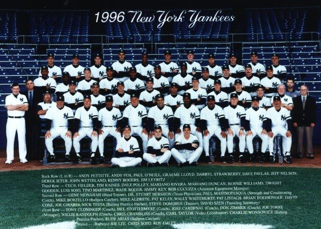 1996 New York Yankees team photo (NATIONAL BASEBALL HALL OF FAME LIBRARY)