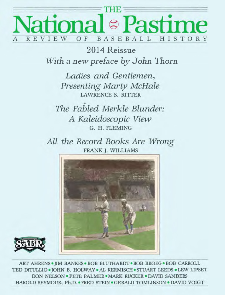 The National Pastime #1 Premiere Edition (1982)