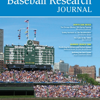 Baseball Research Journal, Spring 2011 (Vol. 40, No. 1)