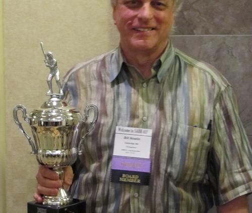 Bill Nowlin with Bob Davids Award - SABR 41