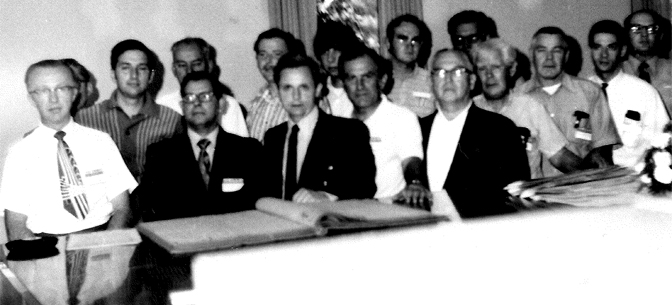 SABR's founding members on August 10, 1971