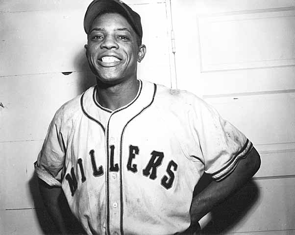Willie Mays with the Minneapolis Millers (MINNEAPOLIS PUBLIC LIBRARY)