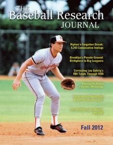 Baseball Research Journal, Fall 2012 (Vol. 41, No. 2)