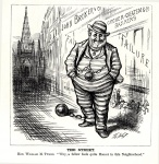 Exerted unprecedented influence through Tammany Hall and drew the ire of political cartoonist Thomas Nast.