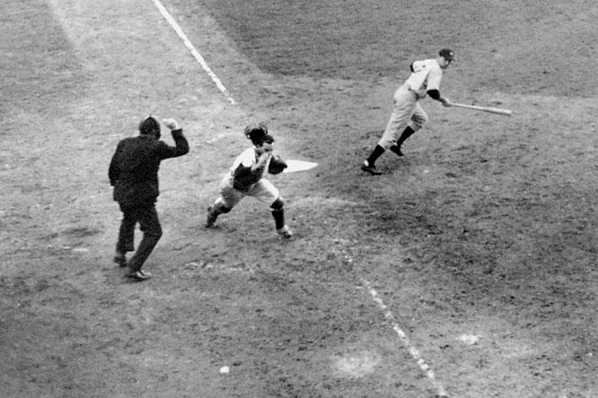 Mickey Owen in the 1941 World Series (MLB.COM)