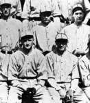 (back row, center) who set a major league record by scoring on 65.4 percent of the times he reached base (53 runs on 86 TOB) in 1925.