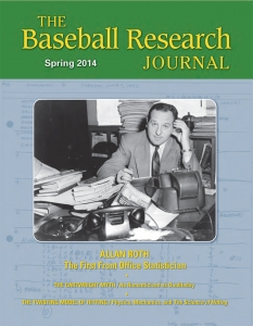 Baseball Research Journal cover, Spring 2014