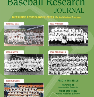 Baseball Research Journal, Fall 2015
