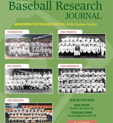Baseball Research Journal, Fall 2015