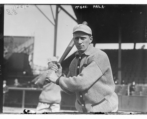 led the National League in RBIs four times in a 16-year career, mostly with the Philadelphia Phillies, from 1904 to 1919.