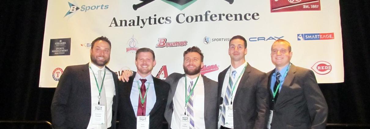 From left, Emerson Frostad, Reid Smith, Cody Callahan (captain), David Bocchino, and Sean Aronson.