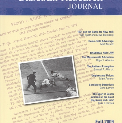Fall 2009 Baseball Research Journal