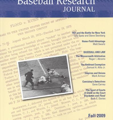 Fall 2009 Baseball Research Journal