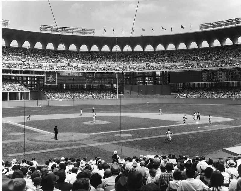 The Cardinals opened play at Busch Memorial Stadium in 1966. (MISSOURI STATE ARCHIVES)