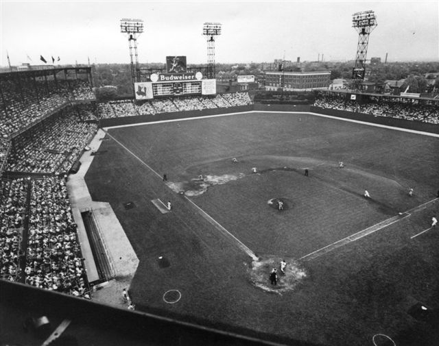 Sportsman's Park in St. Louis served as home of the Cardinals from 1920 to 1966. (NATIONAL BASEBALL HALL OF FAME LIBRARY)