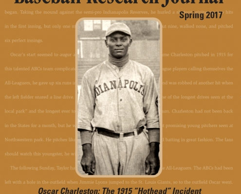 Baseball Research Journal, Spring 2017