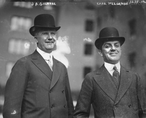James Gilmore and Charles Weeghman of the Federal League, circa 1914 (LIBRARY OF CONGRESS)