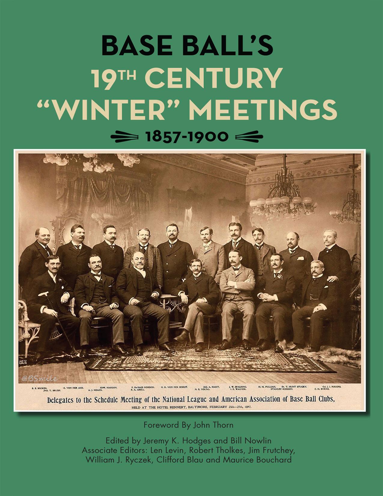 Baseball's 19th Century Winter Meetings: 1857-1900