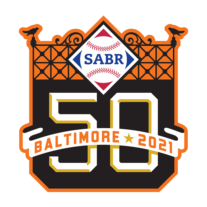 SABR 50 convention logo