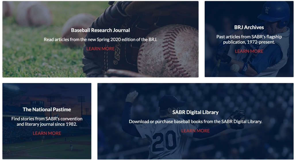 SABR Research Collection screenshot