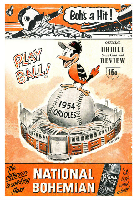 1954 Baltimore Orioles program (COURTESY OF THE BALTIMORE ORIOLES)