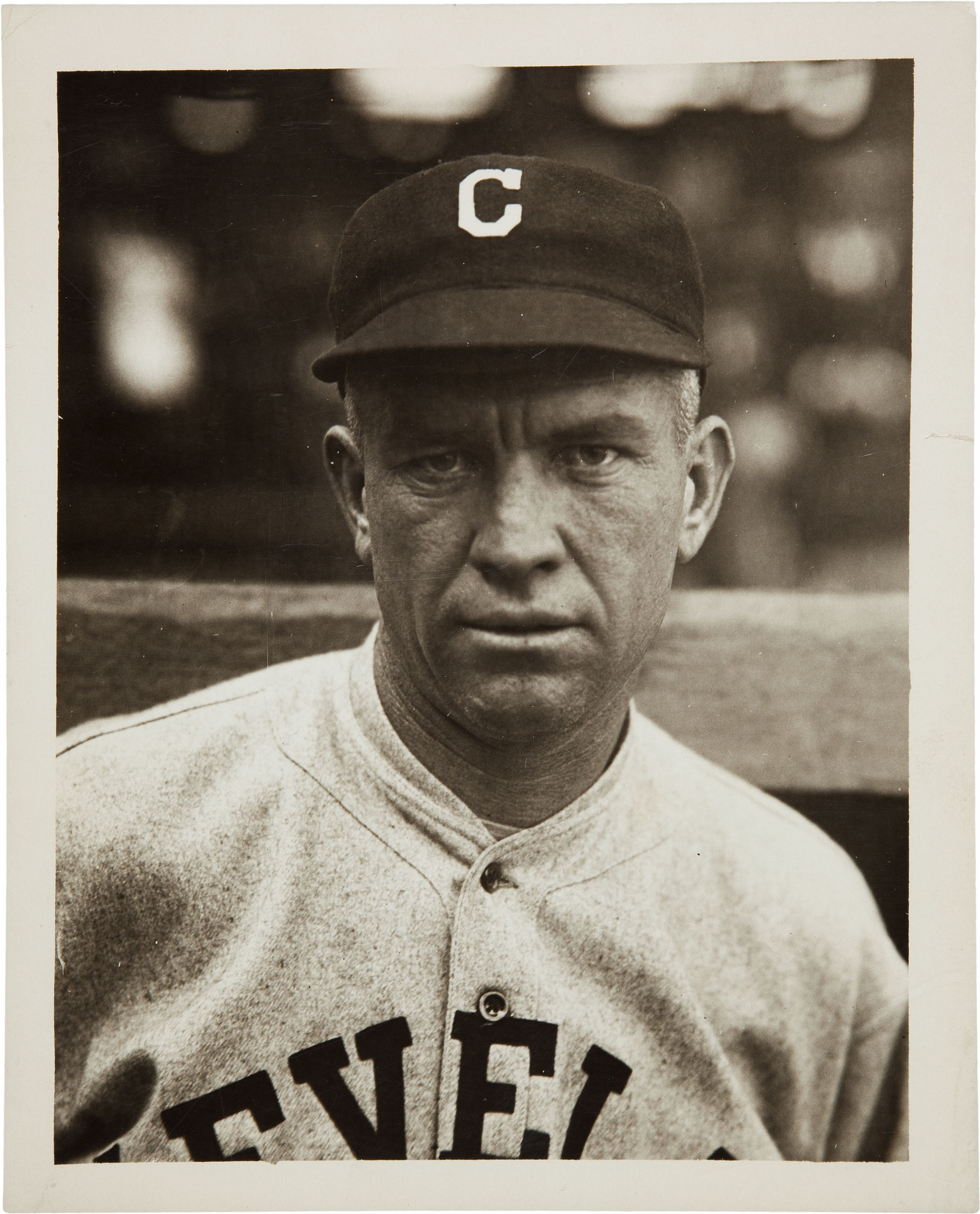 Tris Speaker with the Cleveland Indians (NATIONAL BASEBALL HALL OF FAME LIBRARY)