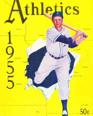 1955 Kansas City Athletics yearbook (COURTESY OF STEPHEN V. RICE)