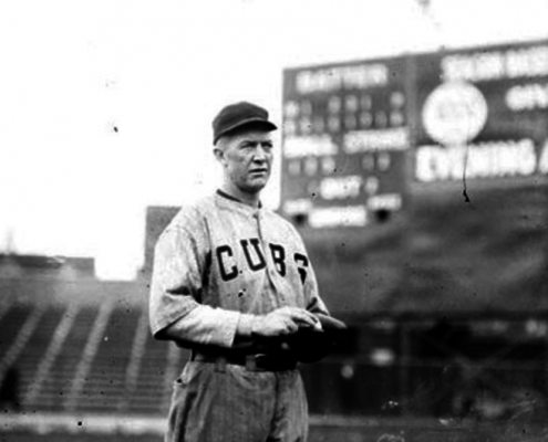 Grover Cleveland Alexander with the Chicago Cubs (CHICAGO HISTORY MUSEUM, CHICAGO DAILY NEWS, SDN-064431)