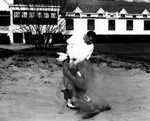 """Golf Magazine deemed that Babe Ruth was """"once America's most famous golfer."""" Ruth was hitting the links while the Olympic trials were being held in Baltimore. (NATIONAL BASEBALL HALL OF FAME LIBRARY)"""