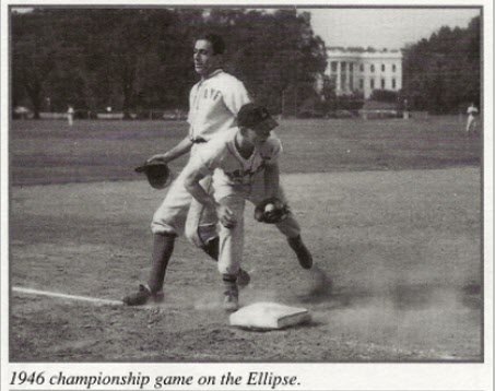 1946 Griffith League Championship Game on the Ellipse. (BETHESDA BIG TRAIN)