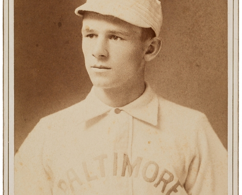 A young John McGraw, shown here in a cabinet photo por- trait taken by photographer William Ashman in Baltimore between 1891 and 1894. (HERITAGE AUCTIONS)